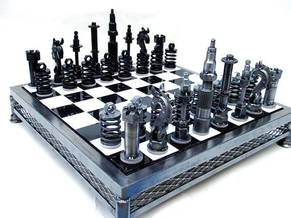 Another cool mid-century chess set.
