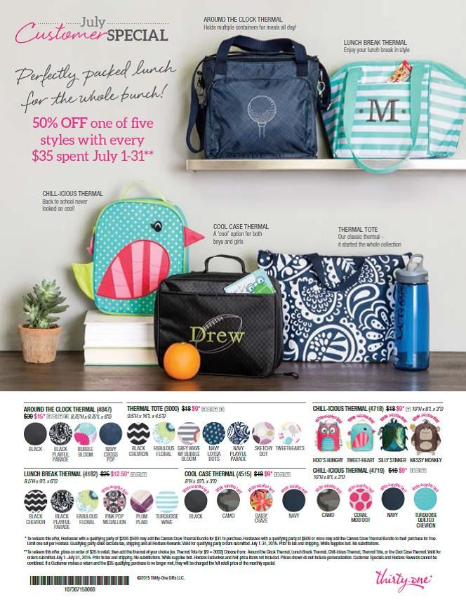 who wants to book the first party in July?!! I love this customer special  www.mythirtyone.com/momof3monsters