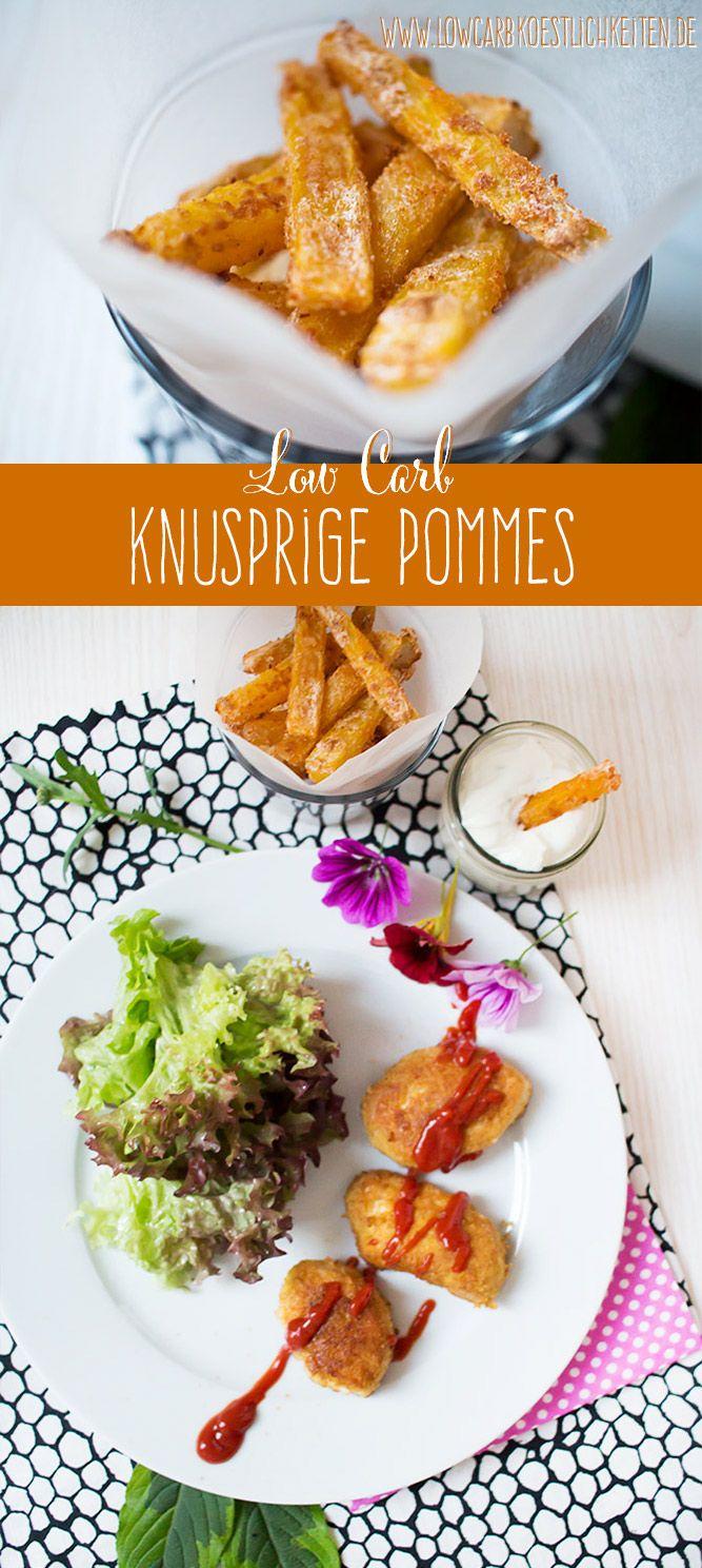 Endlich knusprige low carb Pommes! www.lowcarbkoestlichkeiten.de #lowcarb (Paleo Recipes Low Carb)