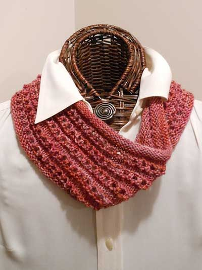Easy Knitted Eyelet Cowl Knitting Pattern Download from e-PatternsCentral.com...