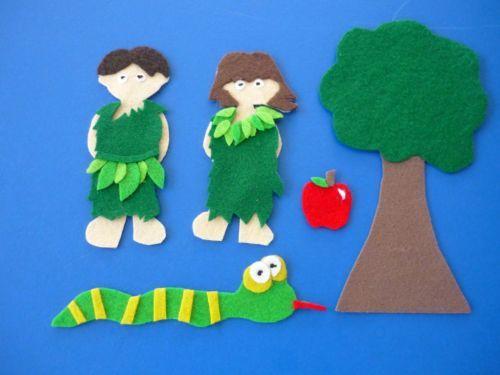 Adam & Eve Bible / Church Sunday School Felt Flannel Board Story