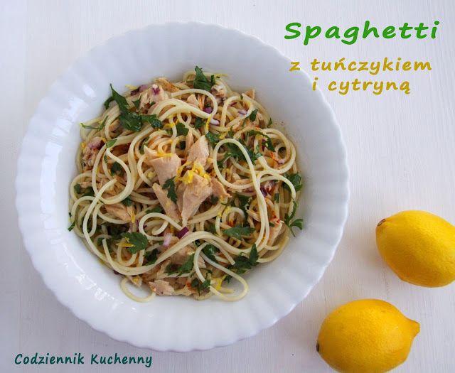 Ekspresowe spaghetti z tuńczykiem i cytryną