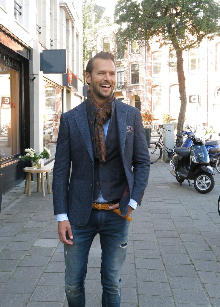 Great combination of plain blue shirt with light brown cardigan and brown coat. Description from pinterest.com. I searched for this on bing.com/images