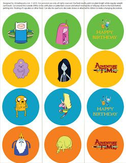 Clickable Party: Adventure Time! Free Printable Party
