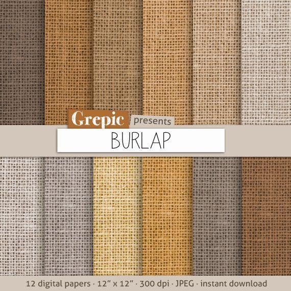 """Burlap digital paper: """"BURLAP PAPER"""" with burlap / linen / jute texture in brown, grey, beige, rustic scrapbooking, natural burlap cards"""