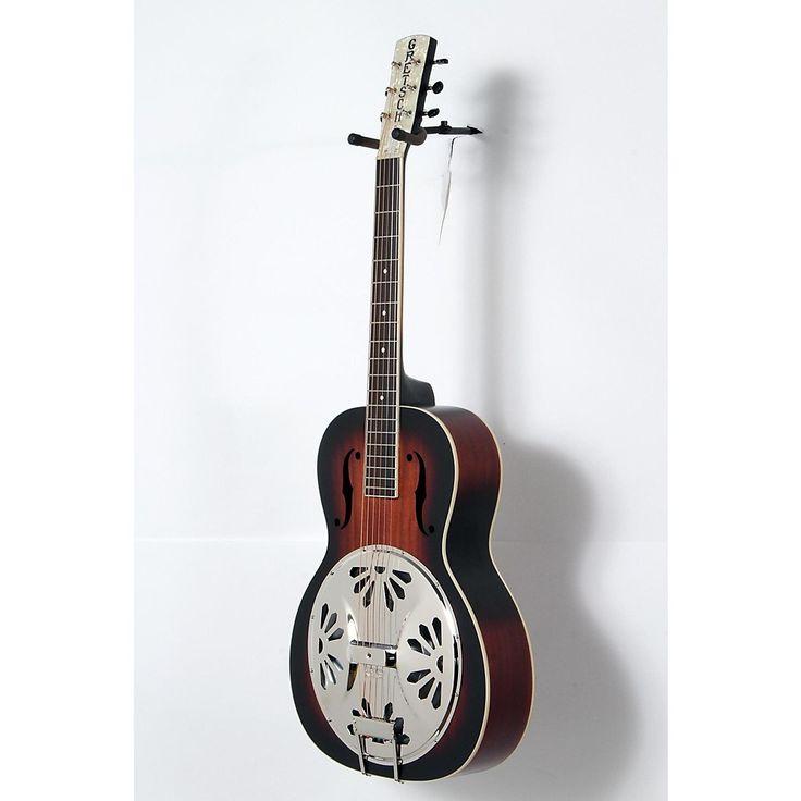 Gretsch Guitars Root Series G9220 Bobtail Round Neck Acoustic/Electric Resonator 2-Color Sunburst 190839083616