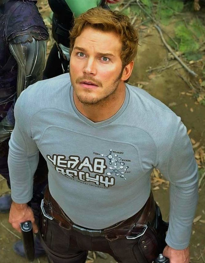 [Chris Pratt in guardiands of the galaxy vol. 2. Just watched the movie yesterday!]...