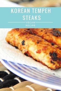 Korean Tempeh Steaks - Vegan Recipe
