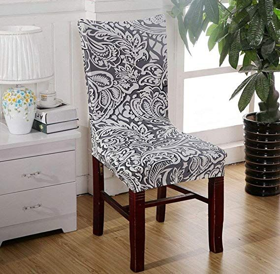 Amazon Com Gogolan Soft Stretch Spandex Dining Room Wedding Banquet Chair Seat Cove Slipcovers For Chairs Dining Chair Covers Seat Covers For Chairs