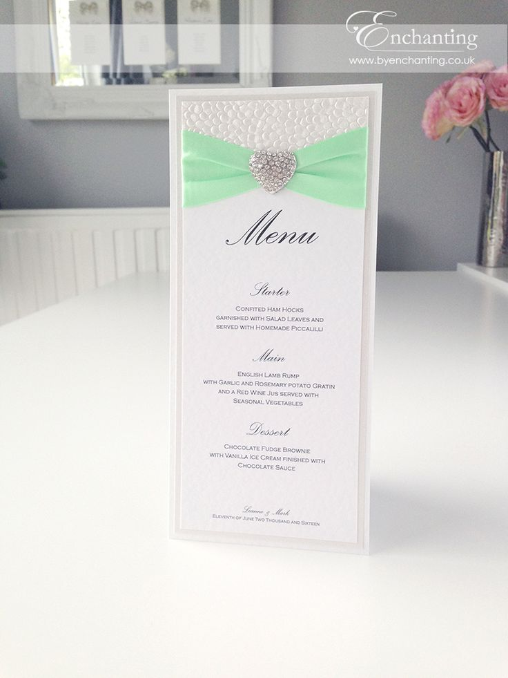 Mint Wedding Stationery The Ariel Collection