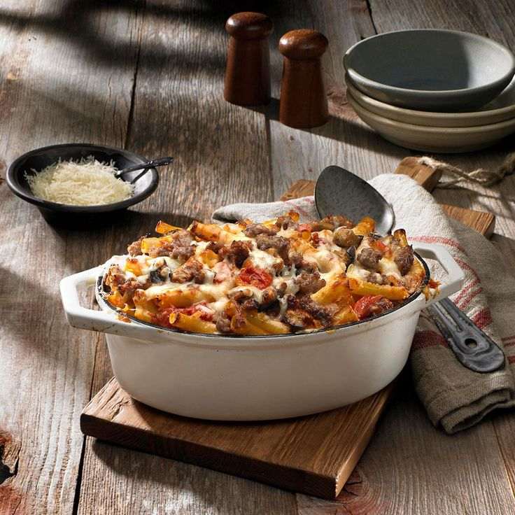 how to make baked ziti with ricotta cheese and meat
