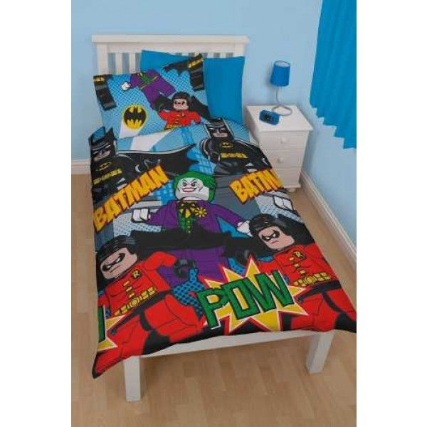 LEGO Batman sengetøj med Batman Robin og Jokeren
