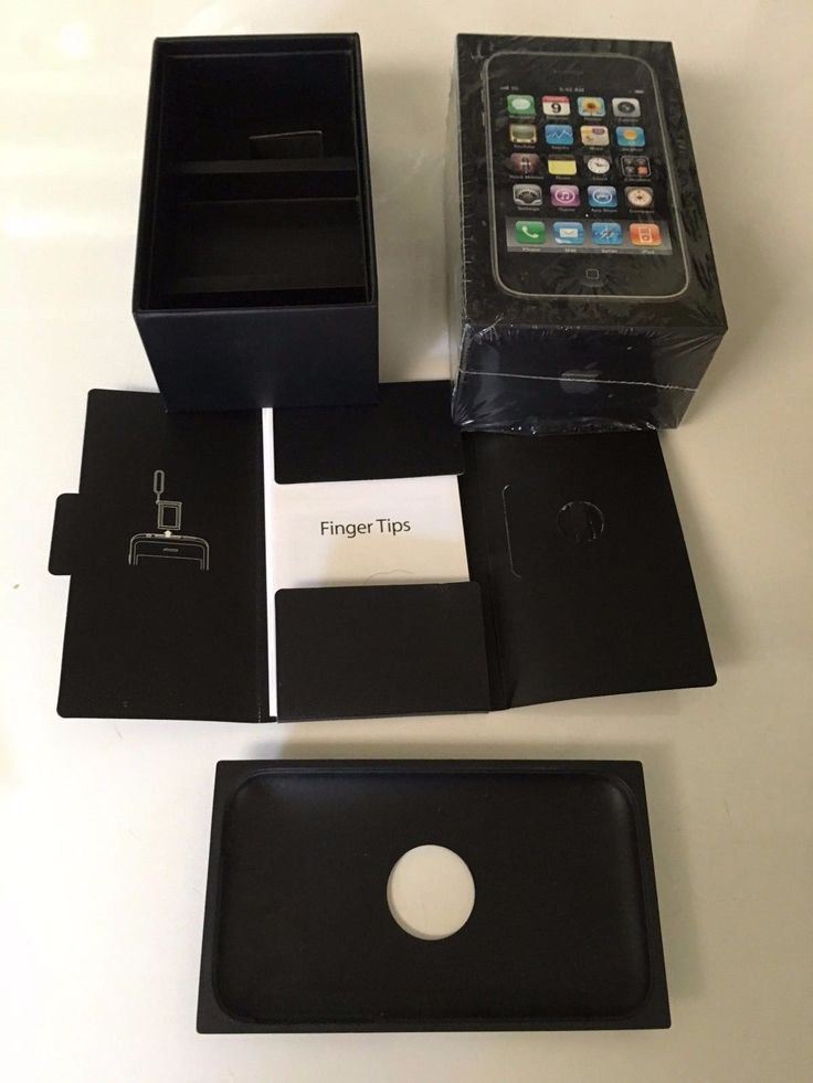 BOX VERY RARE iPhone 3GS 16GB Box with Extras! Includes Original Plastic Manual | eBay
