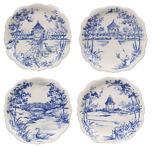 1000 images about blue white delight on pinterest plates fabrics and - Toile decorative murale ...