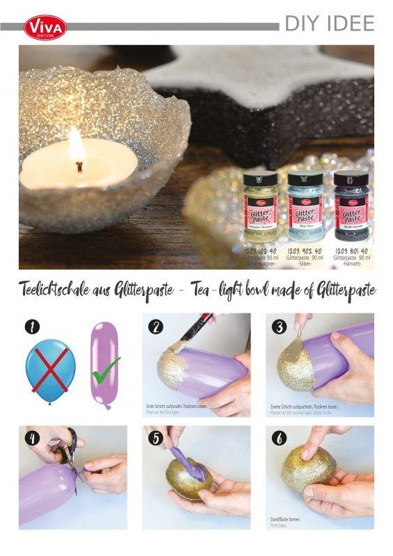 DIY Idee: Glitterschalen