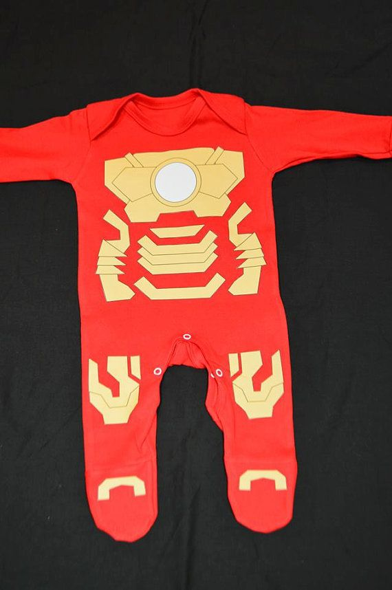 Iron Man inspired Baby grow / onesie My Kid Will Definitely have one!!