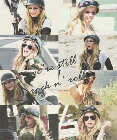 Avril Lavigne - Set of Rock n' Roll Video