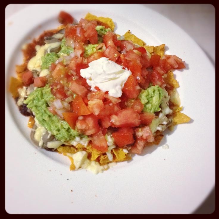 Deliciosos nachos vegetarianos