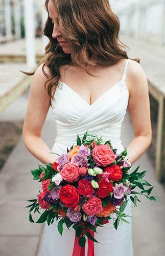 Intimate Pink & Red Greenhouse Wedding – Inspired by This Wedding