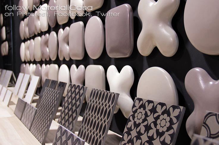 Dot-to-Dot e Decò D'Antan: tutte le facce possibili della ceramica, e anche qualcuna di più! Qui tutto declinato in piacevolissimi colori neutri, caldi, avvolgenti. #Cersaie2014 #CeramicTiles Company: Tagina Ceramiche D'Arte