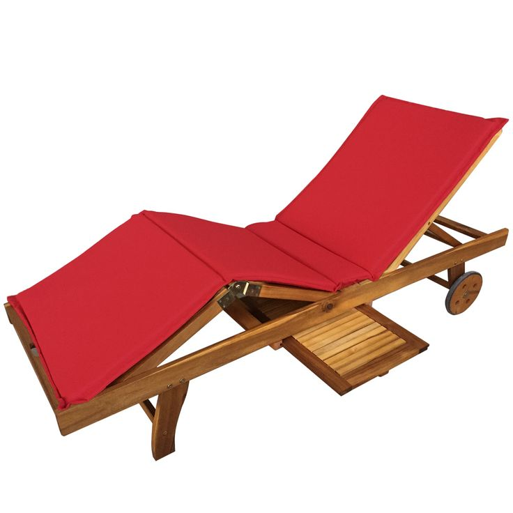 Buy Luxo Grenada Acacia Timber Outdoor Sunbed   Red Cushion Online Australia Part 84
