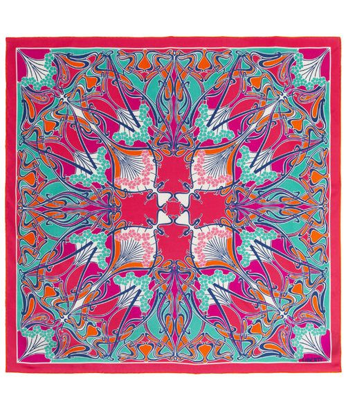 liberty of london building pink silk scarf | Print Silk Scarf, Liberty London. Shop the latest Liberty London ...