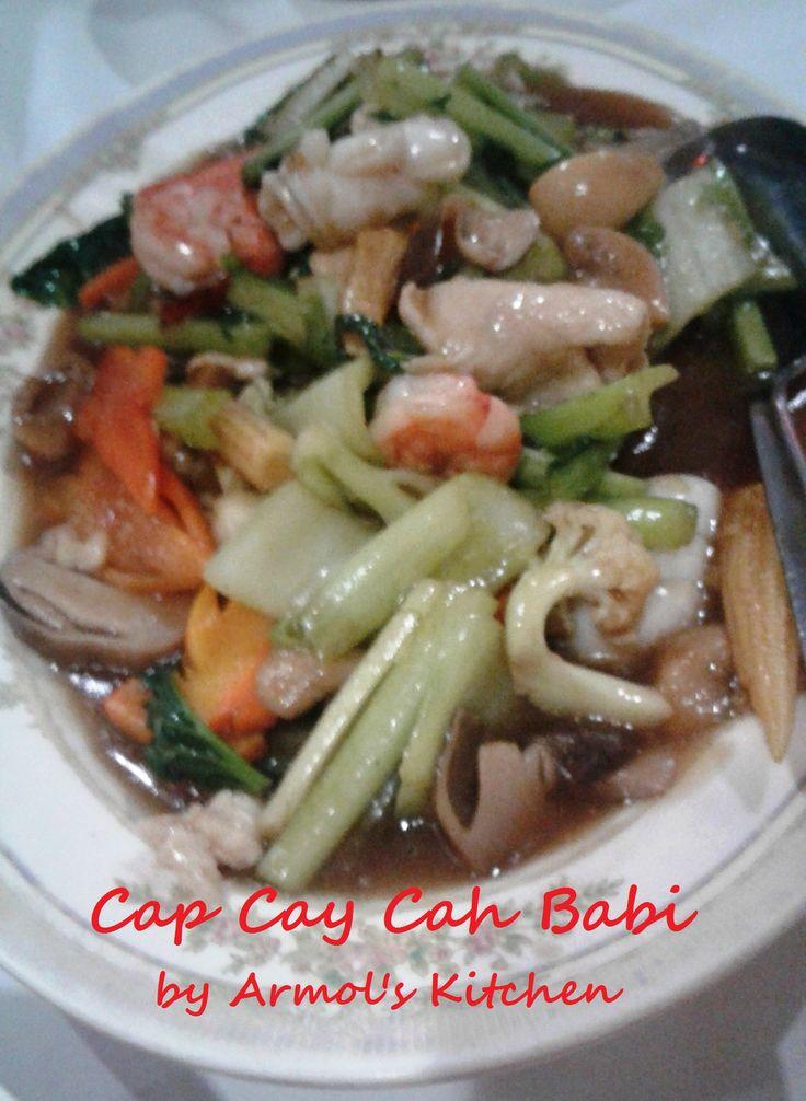 Cap Cay Cah Babi    Yuk simak resepnya http://aneka-resep-masakan-online.blogspot.co.id/2016/07/resep-cap-cay-cah-babi.html