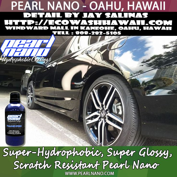 Eco Wash Hawaii Detail and coated this 2016 Honda Accord had some light overspray and light swirls. Paint coated with base + pro, and wheels coated with Pearl Nano HD into the barrels.  http://Pearlnano.comhttp://EcoWashHawaii.com - Live on Oahu and Need your car paint corrected and coated with the Pearl nano coatings? Jay Salinas is the one to call. He is located at the Windward mall parking deck. #ecowashhawaii   #jaysalinas #pearlnano #ceramiccoating