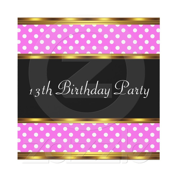 128 Best Images About 13th Birthday Party On Pinterest