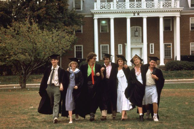From St. Elmo's Fire - (Andrew McCarthy, Mare Winningham, Rob Lowe, Judd Nelson, Ally Sheedy, Demi Moore, and Emilio Estevez)