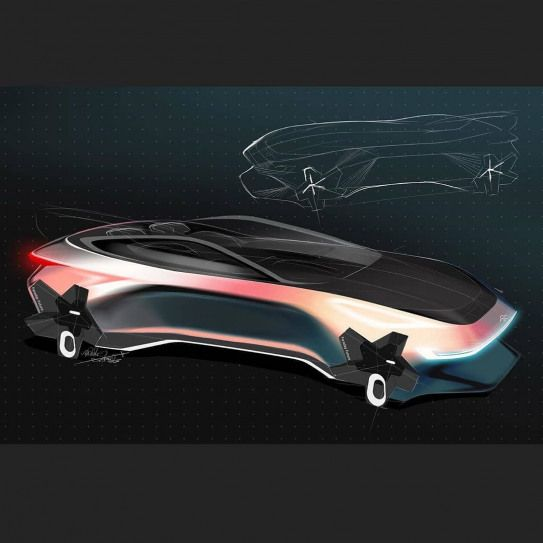 CarDesign.ru on Instagram: Faraday Future concept sketch by Abhi Y Patil