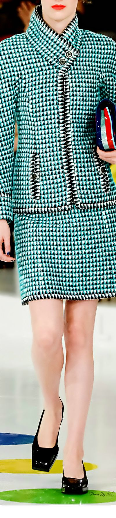 Chanel ~ Resort Herringbone Skirt Suit 2016