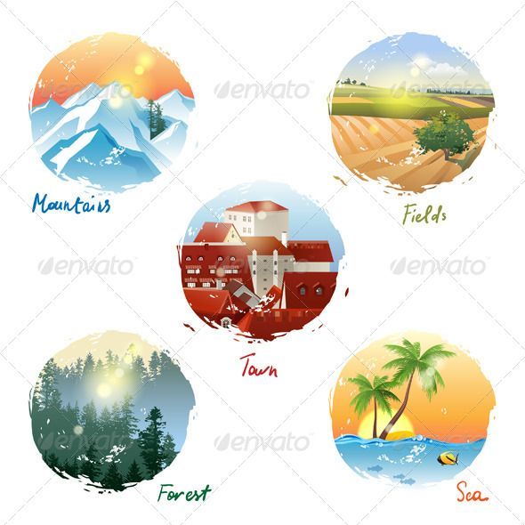 Landscape Types | Vector Landscapes | Pinterest | Landscape, Vector shapes  and Landscape background - Landscape Types Vector Landscapes Pinterest Landscape, Vector