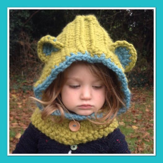 Custom Bear Snood Cowl 3 Months  Adult Hat Winter von MiniMedley