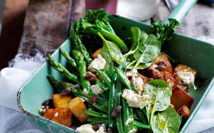 Supergreens salad with polenta croutons recipe - By Australian Women's Weekly, Lighten up your next barbecue with this deliciously fresh supergreens salad. Served with polenta croutons for a gluten-free alternative, it is healthy, quick to prepare, and oh-so-tasty!