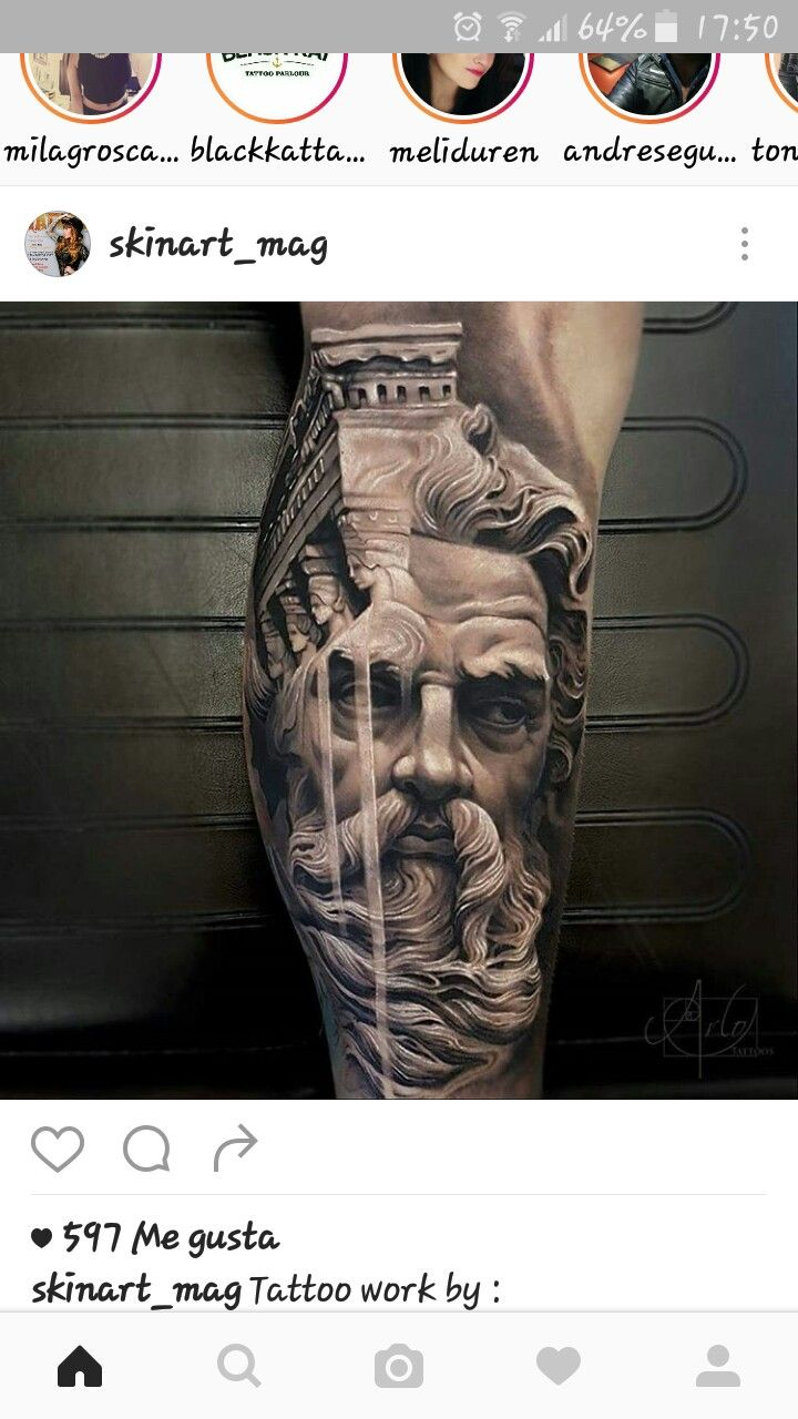 Awesome tattoo for the leg yo