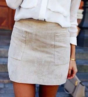 #street #style / suede skirt