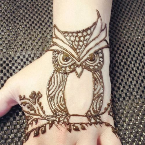 henna tattoo owl - Google Search