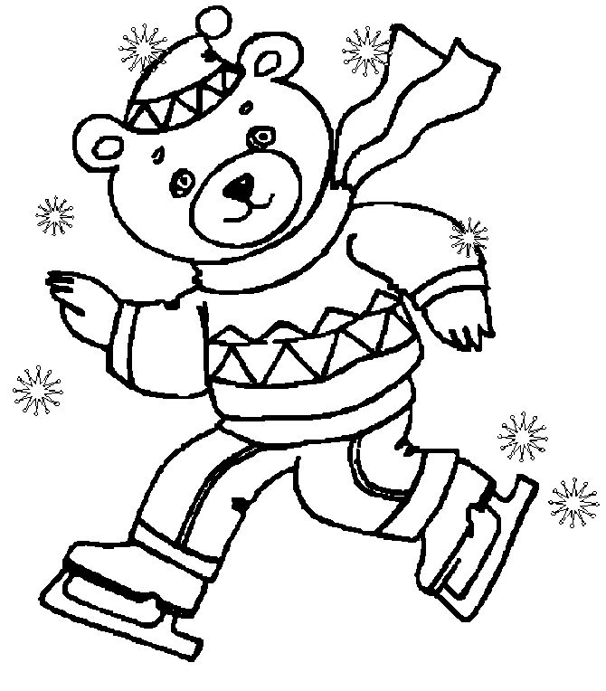 Beertje In De Sneeuw Coloring Pages