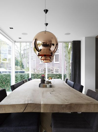 Tom Dixon   Copper Lighting More  Copper LightingIndustrial LightingWooden  Dining TablesWood TableRustic TableKitchen. Best 25  Wooden dining tables ideas on Pinterest   Dining table