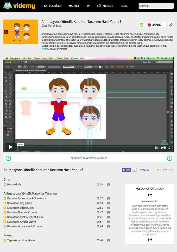 Animasyon yani canlandırmaya yönelik vektör tabanlı karakter tasarımı video eğitimine hoşgeldiniz. Eğitim içeriğinde canlandırmada teknik açıdan karakterin nasıl olması gerektiği sorusuyla başlayıp, Adobe Illustrator programında adım adım vektör tabanlı bir karakter tasarlayacağız. http://videmy.com/Egitimler/C/9/86/Animasyona_Yonelik_Karakter_Tasarimi_Nasil_Yapilir/V/1149/Karakter_Yuz_ve_Mimik_Cizimleri