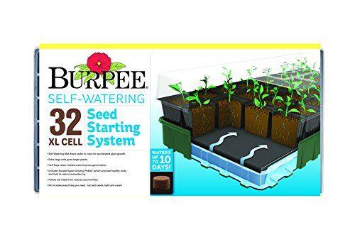24 99 Burpee 32 Cell Xl Ultimate Self Watering Seed Starting Kit 2019 Seed Starting Self Watering Burpees