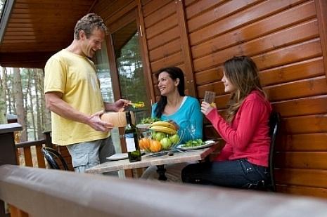 Dine alfresco on the veranda seating
