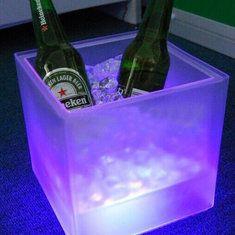 LED Balde de gelo dupla camada de cor rgb bar quadrado KTV cerveja ice bucket