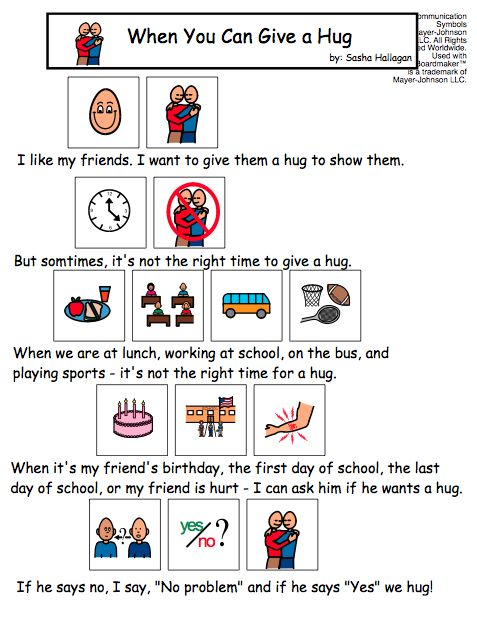 When You Can Give A Hug Visual Story For Kids With