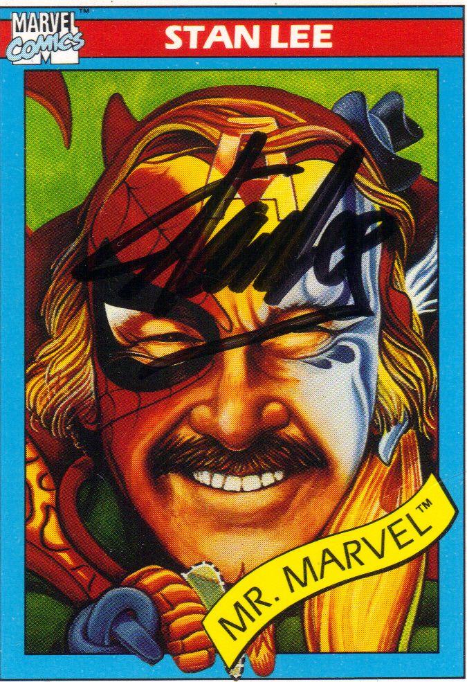 Stan Lee signed 1990 Marvel Universe Impel trading card ...