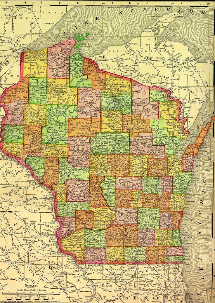 Best Wisconsin Images On Pinterest Wisconsin Maps And Michigan - A map of wisconsin