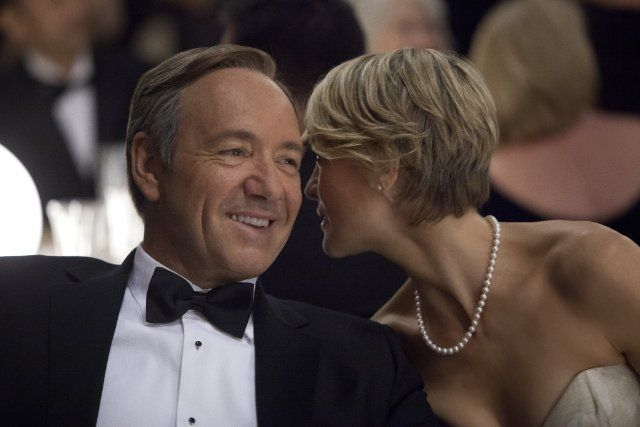 Still of Kevin Spacey and Robin Wright in House of Cards
