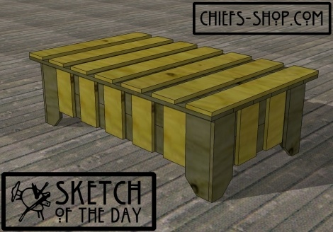 Rustic Deck Box