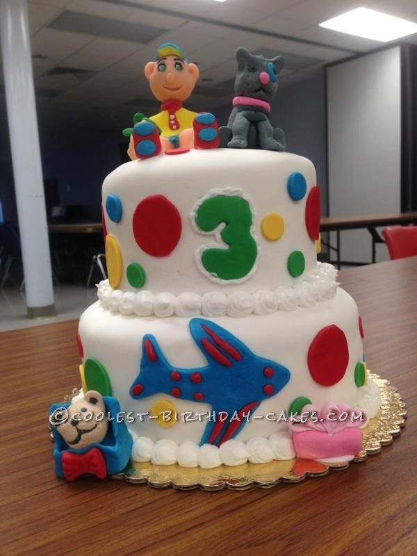 Coolest Caillou Cake... This website is the Pinterest of birthday cake ideas